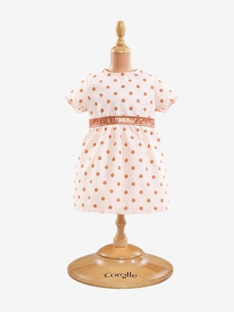 Polka Dot Dress for 36 cm Doll, Corolle PINK LIGHT SOLID WITH DESIGN