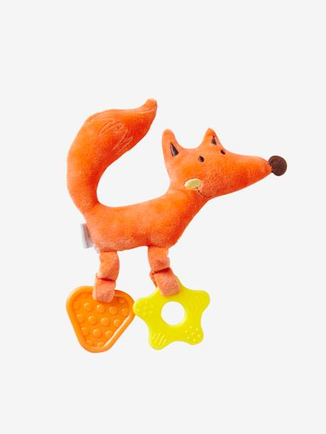 Fox with Teethers ORANGE LIGHT SOLID