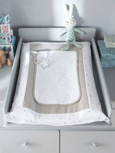 Changing Mat & Cover, Starry Sky Theme White / stars