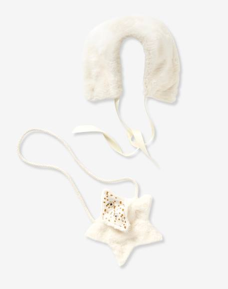 Baby Girls' Snood & Bag Set WHITE LIGHT SOLID