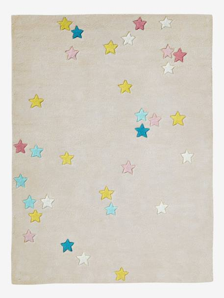 Colourful Stars Rug GREY LIGHT SOLID WITH DESIGN