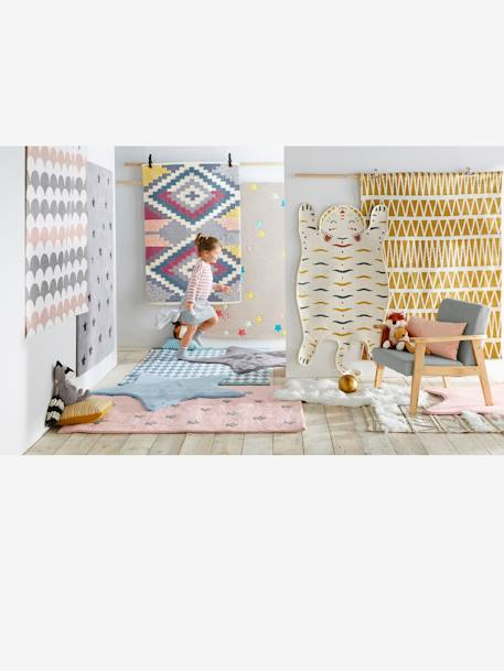 Wavy Rug WHITE LIGHT ALL OVER PRINTED