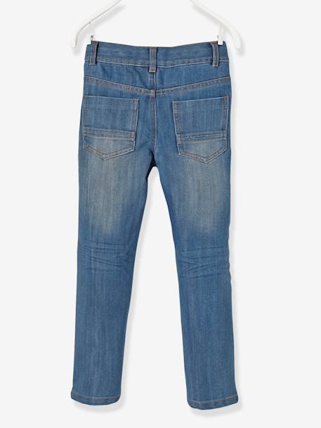 Boys' Indestructible Straight Cut Jeans BLUE DARK SOLID+BLUE DARK WASCHED