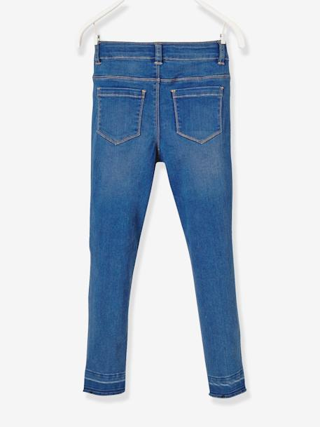 NARROW Fit - Girls' Slim Fit Jeans BLUE DARK WASCHED