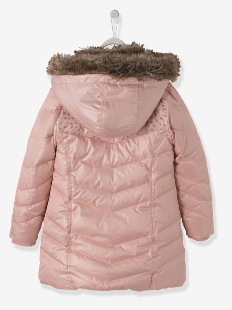 c90920696 Girls  Hooded Padded Jacket - pink medium solid