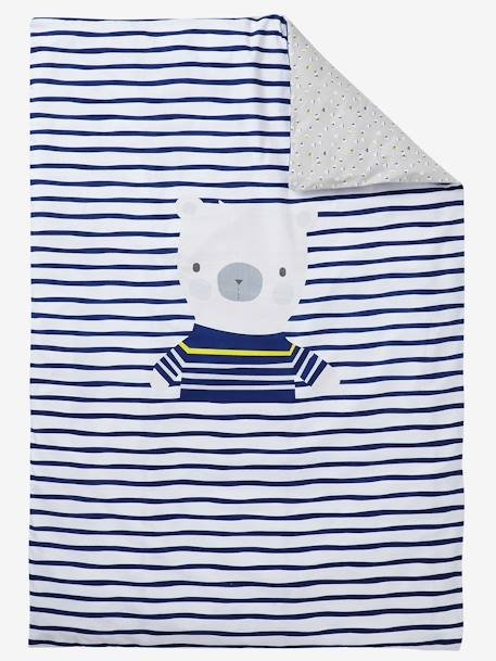 Duvet Cover, Fun Sailor Theme White/blue