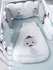 Furniture & Bedding-Adjustable Cot Bumper, Cat Theme