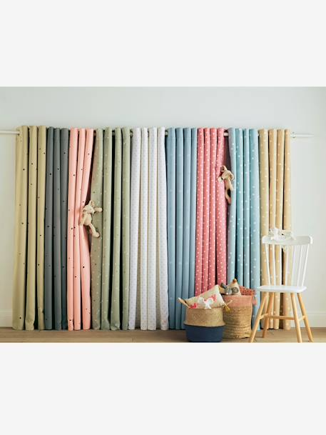 Hollow Star Curtain Blue+Blush+GREEN LIGHT SOLID WITH DESIGN+Grey