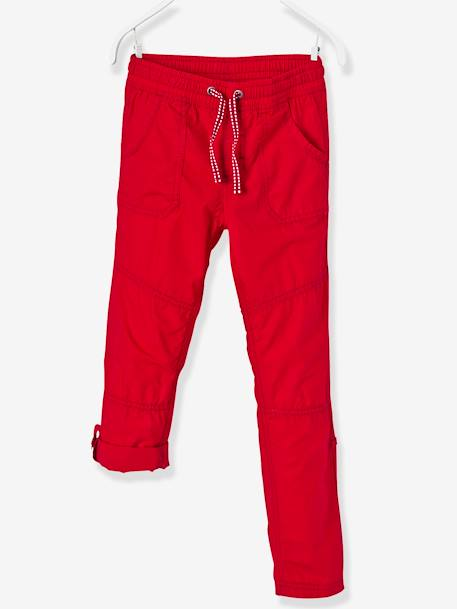 Boys' Joggers, Adjustable Length BLUE DARK SOLID+RED DARK SOLID