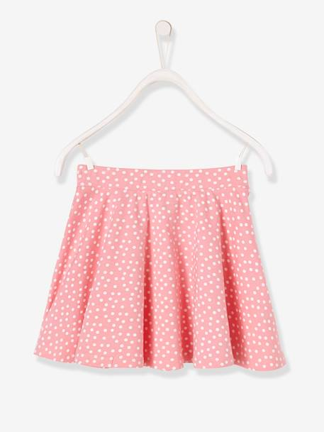 Girls' A-line Skirt BLUE DARK ALL OVER PRINTED+PINK MEDIUM ALL OVER PRINTED