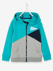 Boys' Colour Block Jacket with Zip