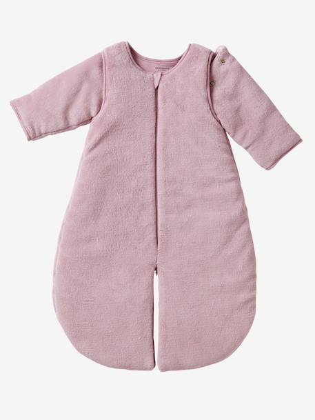 Microfibre Sleep Bag With Detachable Long Sleeve, For Strolling Ecru+Taupe+Violet