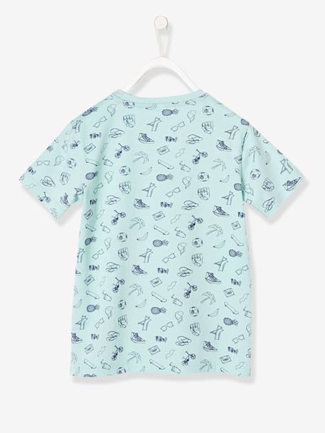 Boys' T-Shirt with motifs GREEN LIGHT ALL OVER PRINTED