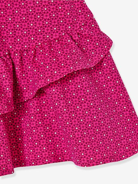 DRESS GREEN LIGHT ALL OVER PRINTED+PINK BRIGHT ALL OVER PRINTED