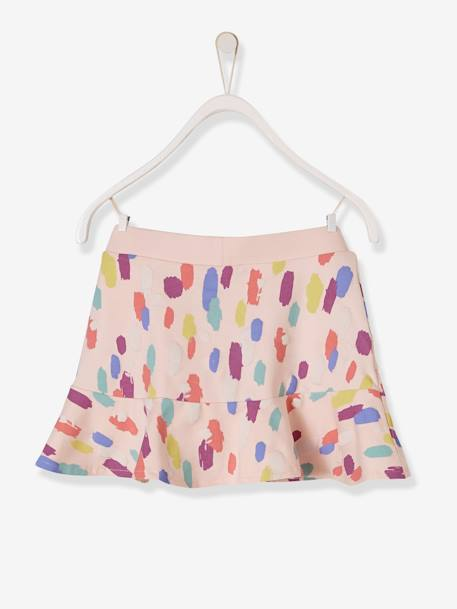Girls' Fleece Skort GREY LIGHT MIXED COLOR+PINK LIGHT ALL OVER PRINTED+PURPLE MEDIUM ALL OVER PRINTED