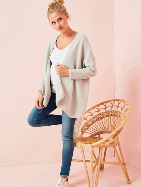 Iridescent Maternity Coat BEIGE LIGHT METALISED+GREY LIGHT MIXED COLOR