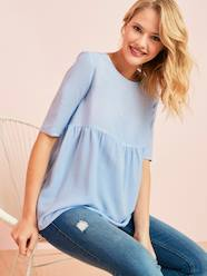 Maternity-Loose-Fitting Maternity Blouse
