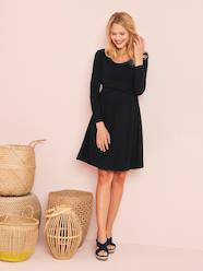 Maternity-Adaptable Maternity & Nursing Wrapover Dress