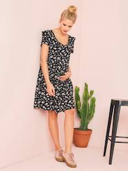 Maternity-Dresses-Floral Breastfeeding Dress