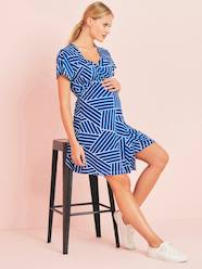 Maternity-Dresses-Wrapover-Style Maternity Dress
