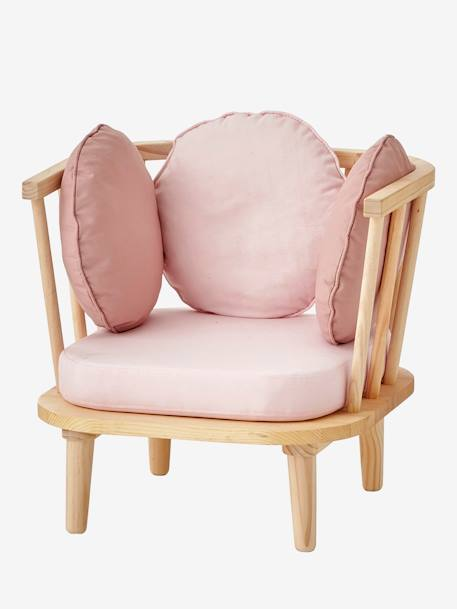 Retro Armchair PINK LIGHT SOLID