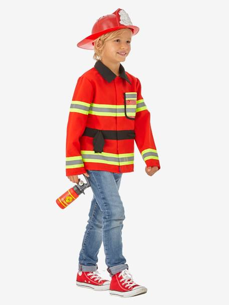Fire-fighter Costume RED MEDIUM SOLID WITH DESIG