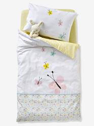 Furniture & Bedding-Baby Duvet Cover, Butterflies and Flowers Theme