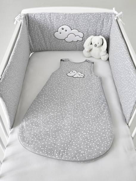 Sleeveless Baby Sleep Bag, Celestial Cloud GREY MEDIUM  ALL OVER PRINTED