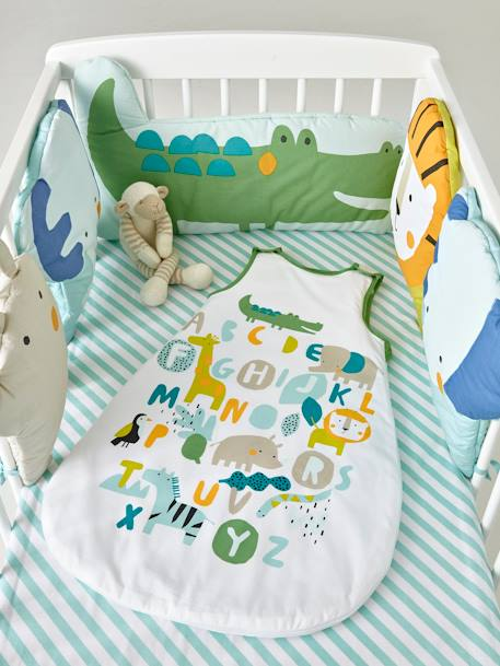 Baby Sleep Bag, Summer Special, BABY SAFARI Theme WHITE LIGHT SOLID WITH DESIGN
