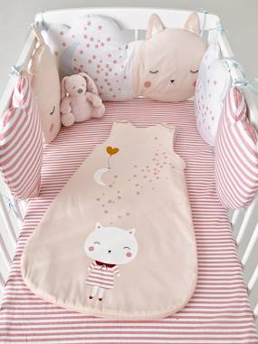 Image of Adaptable Cot Bumper, Moonlight Theme pink medium all over printed