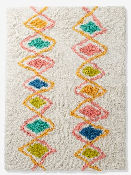 Rug, Harlequin WHITE LIGHT SOLID WITH DESIGN