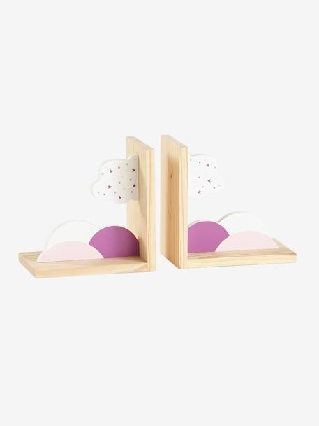 Bookend, Cloud PINK LIGHT SOLID WITH DESIGN