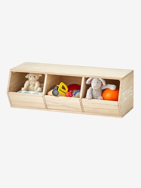 3-Box Unit, Toys BEIGE LIGHT SOLID WITH DESIGN