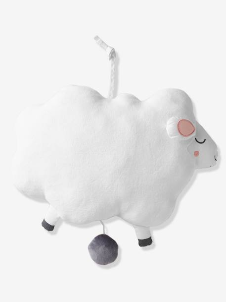 Musical Toy, Sheep WHITE LIGHT SOLID WITH DESIGN