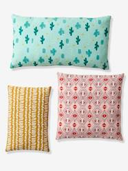 Storage & Decoration-Decoration-Floor Cushions & Cushions-Set of 3 Cushions, Cactus