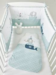 Furniture & Bedding-Baby Bedding-Cot Bumpers-Cot Bumper, Whale and Turtle Theme