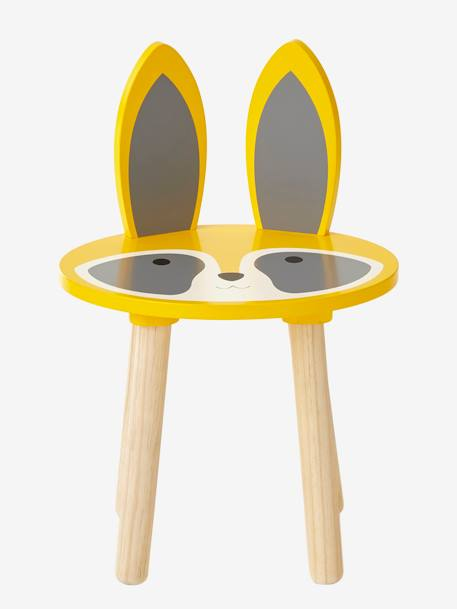 Stool, Raccoon YELLOW LIGHT SOLID