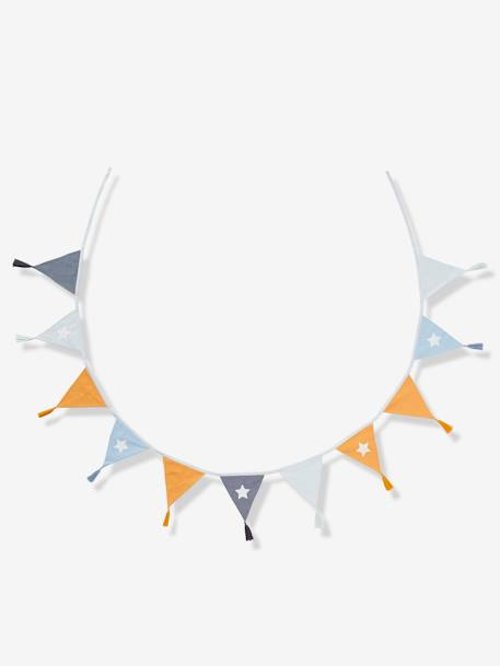 Bunting Garland, Navy BLUE LIGHT SOLID WITH DESIGN