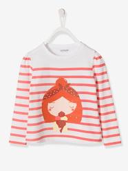 Girls-Tops-T-Shirts-Girls' Printed Navy-style Top