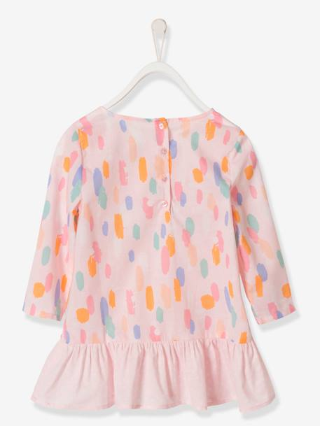Girls' Blouse with a Mix of Prints PINK LIGHT ALL OVER PRINTED