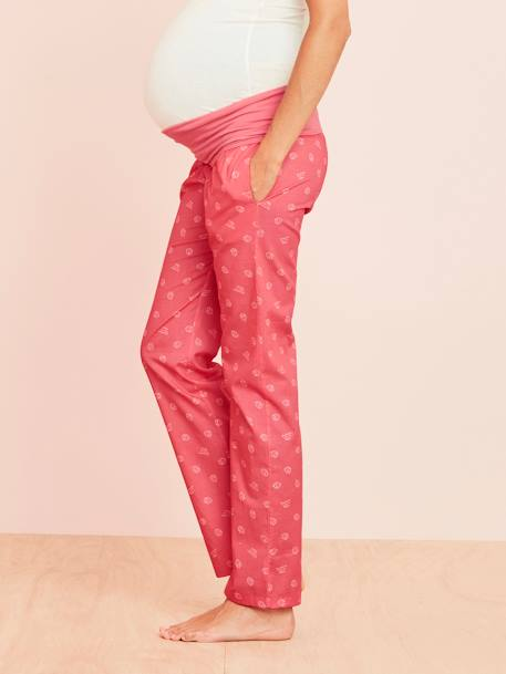 Maternity Printed Pyjama Bottoms RED LIGHT ALL OVER PRINTED+YELLOW LIGHT ALL OVER PRINTED