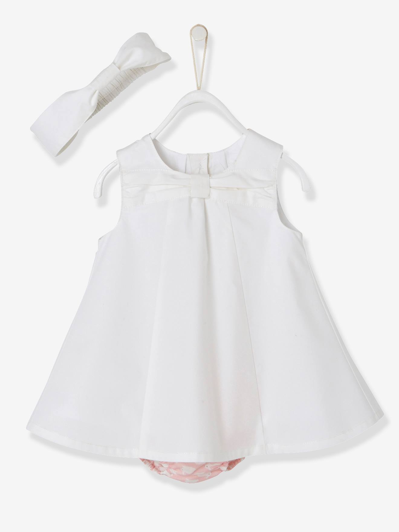 Baby Girls 3 Piece Outfit Dress & Shorts & Headband Bunny Rabbit