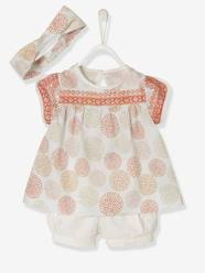 Baby Girls' Blouse + Shorts + Headband Outfit