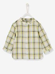 Baby-Blouses & Shirts-Baby Boys' Shirt with Large Tri-Colour Checks