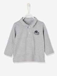 Baby-T-shirts & Roll Neck T-Shirts-T-Shirts-Baby Boys' Long-Sleeved Polo Shirt, Motif on the Back