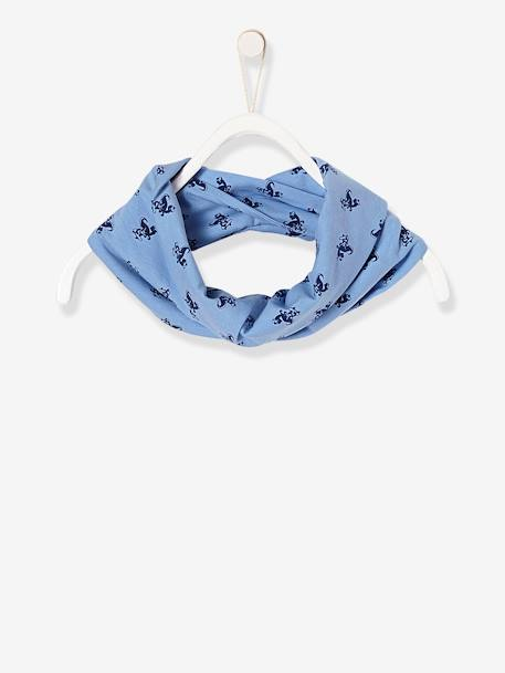 Boys' Printed Infinity Scarf BLUE MEDIUM ALL OVER PRINTED
