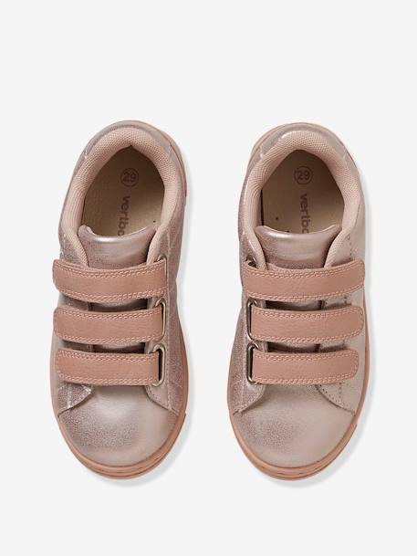 Girls' Trainers with Touch 'n' Close Fastening Tabs PINK LIGHT METALLIZED+WHITE LIGHT SOLID WITH DESIGN