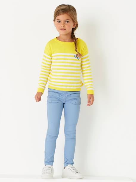 Girls Slim Cut Indestructible Trousers GREEN MEDIUM SOLID+GREY DARK SOLID+Pink+Sky blue+YELLOW MEDIUM SOLID