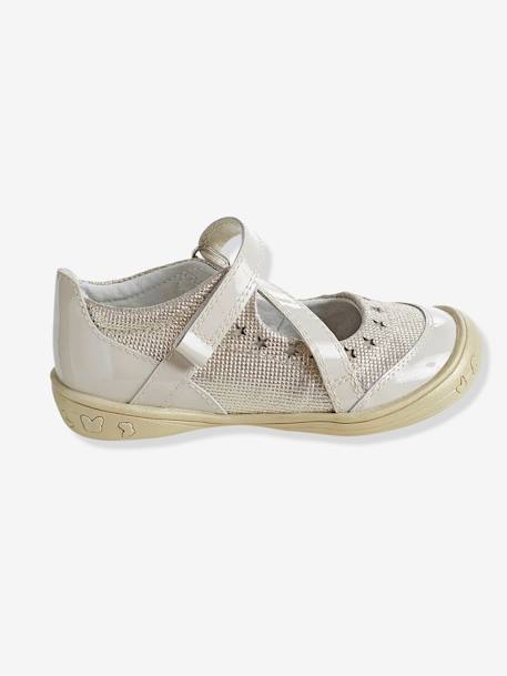 Girls' Leather Ballerina Shoes, Autonomy Collection PINK LIGHT SOLID+WHITE DARK SOLID