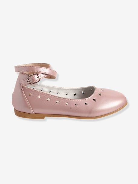 Girls Ballerinas PINK LIGHT SOLID+Silver+WHITE LIGHT SOLID